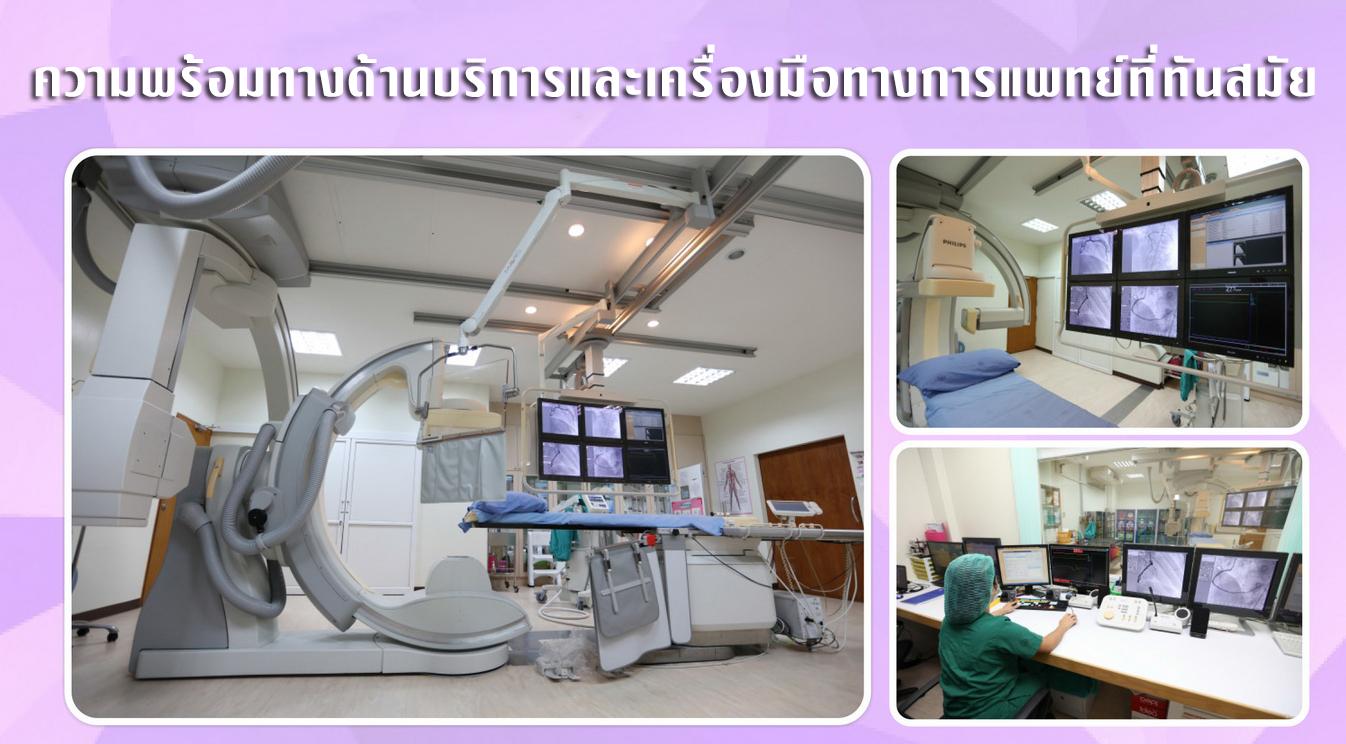 ความพร้อมทางด้านบริการและเครื่องมือทางการแพทย์ที่ทันสมัย